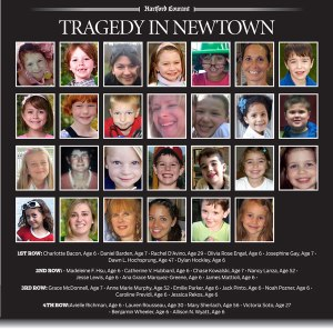 Mug shot of the 27 victims of the Newtown, CT massacre