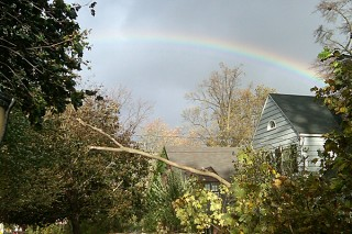 After Hurricane Sandy rainbow